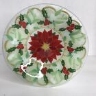 Peggy Karr Poinsettia Fused Glass Bowl Decorative Holiday Artisan Colorful