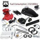 Full 80CC 2 Cycle Gas Motor Motorized Engine Bike Bicycle Moped Scooter Kit Red