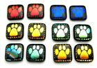 PAW PRINTS Lot 12 pcs DICHROIC FUSED GLASS pendant M1 CABOCHON HANDMADE