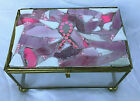 Breast Cancer Awareness Stained Glass Mosaic Trinket Jewelry Box