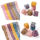 25 Yards Leopard Printed Grosgrain Ribbon for Headbands Hair Bows Craft Wrapping