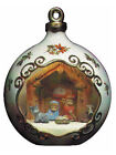 Ceramic Bisque Ready to Paint Christmas Ornament with Nativity scene lights