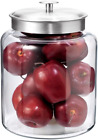 2 Gallon Glass Wide Jar With Lid Clear Container Storing Dry Goods Cookies Flour