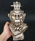 Old Tibet Silver Mythological characters The monkey king Sun wukong Statue