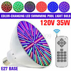 35W 120V RGB LED Color Changing Underwater Swimming Inground Pool Light Bulb NEW