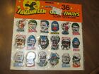 HALLOWEEN PUFFY STICKERS SHEET W 36 SCARY STICK ONS MONSTERS 1989 UNIQUE IND
