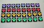 PAW PRINT SET OF 32 pcs ETCHED DICHROIC GLASS EA9 CBS COE 90 FUSING SUPPLY