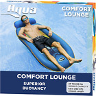 Aqua Comfort Water Lounge X Large Inflatable Pool Float with Headrest Footrest