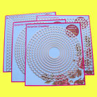 4 Set Large Scallop Rectangle Cutting Dies Square Circle  Oval Scrapbook DIY