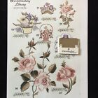 Flowers Roses Embroidery Designs Card for Husqvarna Viking Embroidery Machines