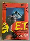 1982 Topps ET Unopened Wax Box BBCE Sealed (36 Packs) E.T. Extra Terrestrial