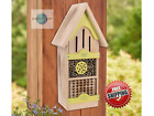 Wooden Tower Native Bee House Shelter Garden 18 Inch