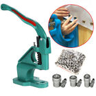 Large Press Punch Machine + 3 Dies For Grommet Snaps Buttons Rivets  Eyelets