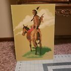 Vintage Paint By Number W Native American  Horse