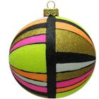 Colorful Prism Pop Art Polish Glass Ball Christmas Tree Ornament Made in Poland