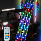 2X4FT RGB LED Whip Light Antenna Remote Control Spiral for Polaris RZR UTV ATV