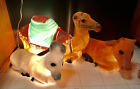 Vintage Nativity Animals Camel Donkey Cow Lighted Blow Mold Christmas Yard