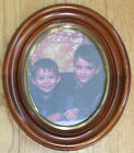 Antique Victorian WALNUT Oval Deep Well Picture Frame 1870s Golden Ring Rim