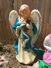 VINTAGE PLASTIC NATIVITY ANGEL BLOW MOLD OUTDOOR CHRISTMAS DECORATION 39 Tall