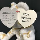 TY Beanie Baby 2004 Signature Bear With Tag Retired   DOB: 2004
