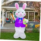 inslife Inflatable Bunny Lighted Easter Eggs Decoration for Home Yard Lawn