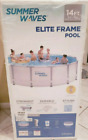 Summer Waves 14ft Elite Frame Pool with Filter Pump Cover and Ladder FREE SHIP