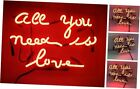 All You Need is Love Neon Signs Real Glass Beer Bar Pub Party Room Garage Home