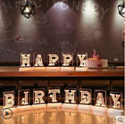 HAPPY BIRTHDAY LED Alphabet Letter Lights Marquee Party Sign Wedding Festival