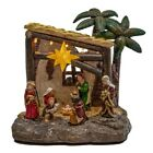 Nativity Scene LED Light Up Battery Operated Christmas Table Piece N1029
