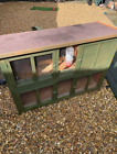 Double rabbit hutch guinea pig cage with ramp