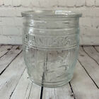 Planters Running Mr Peanut Clear Counter Container W O Lid Glass Barrel Jar