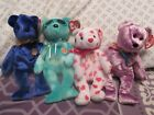 Ty Beanie Babies of the Month - Picnic, Sapphire, Heartthrob and Dreamer