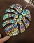 Iradized Stained glass Monstera leave Sun catcher 81 2 Long X 7 wide