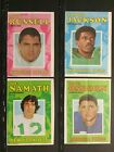 1971 Topps Football Cards Insert Posters Near Set 24 of 32 Sku21F