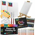 Deluxe Oil Paint Set with Table Easel and Vibrant Oil Paint