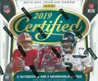 2019 Panini Certified Football FOTL Hobby Box 1st First Off The Line sealed new