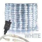Assorted Sizes 1 2 Cool White LED Rope Lighting Thick Indoor Outdoor Christmas