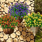 Flowers Fake Outdoor Resistant Greenery Plants for Outside Hanging DecorPurple