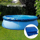 10 12FT Above Ground Swimming Pool Cover for Winter PE Blue Round Easy Set