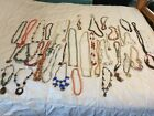 Estate Sale Vintage Lot Of 38 Chunky Necklaces Jewelry LESS THAN 100 Each 1