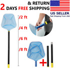 Swimming Pool Leaf Skimmer Net with Stainless Pole Rake Mesh Spa Pond Cleaning