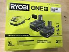 Ryobi PSK006 ONE+ 18V Lithium Ion 40 Ah Battery 2 Pack and Charger Kit New