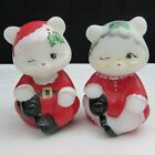 Fenton Opal Satin Mr Mrs Clause Hand Painted Sitting Bear Set Special OrderC2141