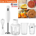 Hand Blender Immersion Stick Electric Chopper Emulsion 5 in 1 Hand Held Mixer US