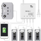 Hanatora 6 In 1 Battery Charger For Dji Mini 2 Drone And Remote ControllerRapid