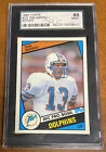 1984 Topps Dan Marino Rookie Card RC #123 Dolphins SGC 88 NM-MT Centered!!