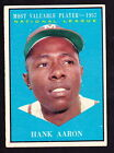 Vintage Topps Hank Aaron Baseball Cards Showcase Gallery and Checklist 70