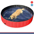 31 63 Outdoor Foldable Pet Dog Swimming Pool Kids Collapsible Bath Tub Portable