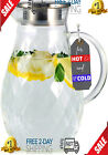 Borosilicate Glass Pitcher with Lid and Spout 68 Ounces Cold and Hot Water
