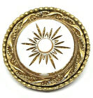 Original By Robert Signed Designer Etched White Glass Exquisite Brooch
